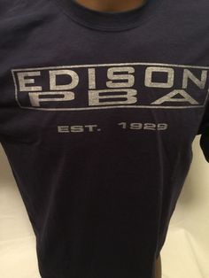 EDISON, NJ PBA Local 75 Est. 1929 Tshirt Large New Jersey POLICE UNION  | eBay