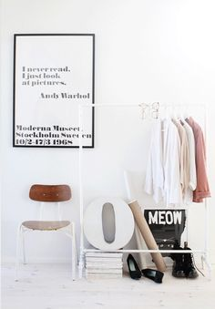 3 ways to style your clothes rail at home