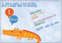 BFY_007 Invite, Invitations, Little Cakes, Baby First Birthday, First Birthdays, Rsvp, Monkey, Names, Fun