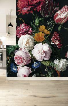 Fototapete Golden Age Flowers x 280 cm - KEK Amsterdam Deco Floral, Arte Floral, Floral Wall, 3d Wallpaper, Photo Wallpaper, Mural Art, Wall Murals, Colour Architecture, Decoration