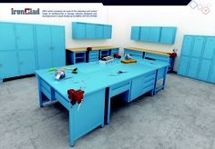 IRONCLAD (WS3 series) products are part of the extensive and varied range of workbenches & storage cabinets designed and manufactured in Saudi Arabia by ALISMAIL OFFICE SYSTEM.