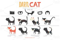 Check out Darn Cat (Vector) by LaRue & Company on Creative Market http://crtv.mk/fOQA