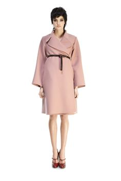 Double-Faced Cashmere Wrap Coat with Belt