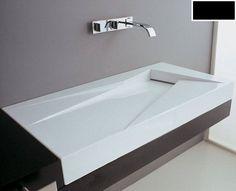 Umywalki wiszące : GSG OZ Umywalka wisząca 95x47cm, czarna LAOZCZ