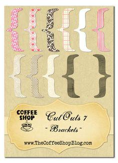 The CoffeeShop Blog: CoffeeShop CutOuts 7: Brackets!