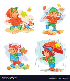 Buy Set Of Vector Icons Small Children by vectorpocket on GraphicRiver. A set of vector icons of small children in autumn clothes Autumn Activities For Kids, Craft Activities For Kids, Preschool Activities, Rainy Day Images, Frozen Poster, Fall Art Projects, Pop Art Girl, Kids Icon, Autumn Art