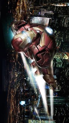 Iron Man, the ultimate, high-tech, jet-propelled armored hero of the sky.
