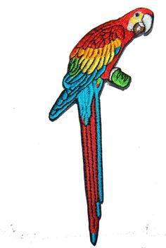 écusson perroquet oiseau patch brodé thermocollant COUTURES