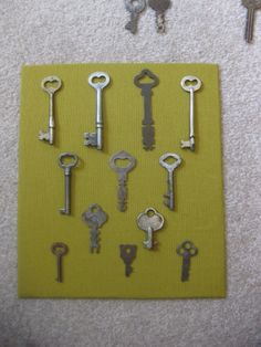 interesting skeleton key shadow box idea