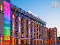 Mercure Hotel in the centre of Riga has recently opened. The striking building has a modern, sleek façade, yet with multiple classical design