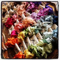 Seam Binding  Hand Dyed  Crinkled  French by 5dollarfrenchmarket, $5.00