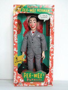matchbox talking pee-wee herman doll packaging (1987) by j_pidgeon, via Flickr