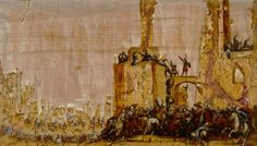 56 Filippo Napoletano Soldiers storming a town