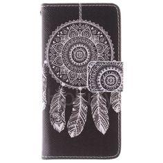 Quermuster Wallet Magnetic Schlag-Standplatz TPU   PU-Leder Tasche für iPhone 5S 5 Windbell