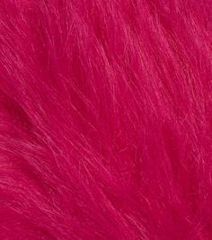Fashion Faux Fur Fabric-Magenta