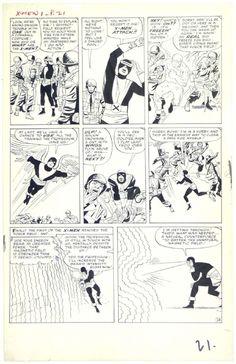 Stan Lee, Jack Kirby, Paul Reinman, Sam Rosen | X-Men #1, page 18, 1963. Original page, uncoloured. | #comics #marvel