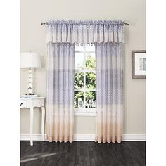 Essential Home Grayson Sheer Voile Panel - Geo Print