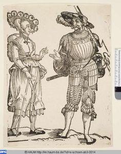 Landsknecht und seine Frau   Erhard Schön,    PURL http://kk.haum-bs.de/?id=e-schoen-ab3-0014