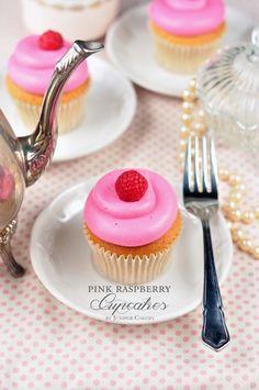Pink Raspberry Cupcakes Recipe!