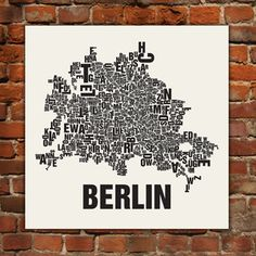 Siebdruck Berlin, now featured on Fab. Kids Attractions, Graphic Quotes, Graphic Design Print, City Maps, Grafik Design, Heart Art, Cartography, Travel Around The World, Wonderful Places