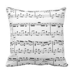 Sheet Music Pillow  Black and White. >>> See more by going to the picture link