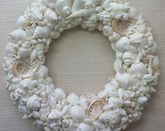 Beach Decor Seashell Wreath Nautical Decor by beachgrasscottage
