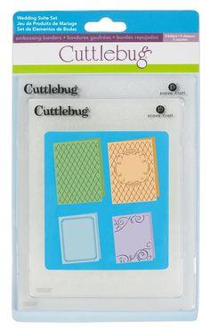 Cricut Cuttlebug™ Wedding Set, 4 piece  On Sale at Cricut for $4.50  Reg  $17.99