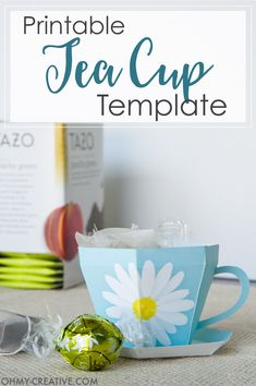 Create the perfect gift for spring with this Tea Cup Template. Perfect for Tea Party Favors! Create the perfect gift for s Bridal Shower Favors Diy, Tea Party Favors, Christmas Party Favors, Christmas Tea, Diy Party, Tea Party Crafts, Teacher Appreciation Gifts, Teacher Gifts, 3d Templates