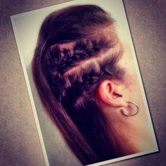 Close up of braided fohawk @JLea Hair