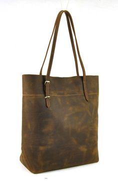 79.99$  Buy here - http://ali9ya.worldwells.pw/go.php?t=32506395747 - Women Vintage Retro Genuine Real Saddle Leather Tote Bag Shopper Shopping Handbag Cabas Shoulder Purse Hobo Duffle Daily Fashion 79.99$