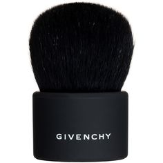 Givenchy Kabuki Brush (€44) ❤ liked on Polyvore featuring beauty products, makeup, makeup tools, makeup brushes, fillers, beauty, black, black fillers and givenchy