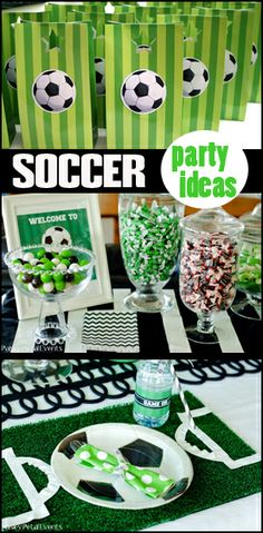 Soccer Party Ideas- I want to do this!            Visit www.fireblossomcandle.com for more party ideas!