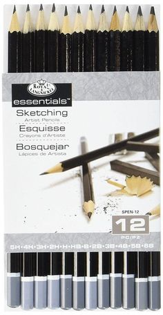 Essentials by royal & Lang nickel are the must have artist materials to This set offers the core range of harnesses of Graphite sketch pencils Includes 12 Graphite pencils H, hb, B, 4 Graphite Art, Graphite Drawings, Cool Drawings, Pencil Drawings, Pencil Sketching, Sketch Drawing, Drawing Art, Arts And Crafts Supplies, Art Supplies