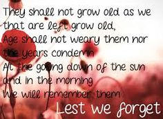 Image result for anzac poem lest we forget