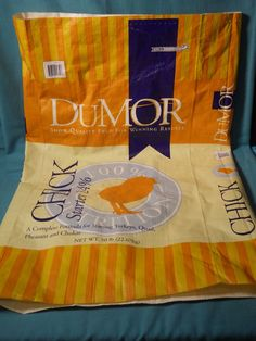 FOR SALE in Lone Raven Ranch eBay shop - please follow link.. http://www.ebay.com/usr/loneravenranch (subject to prior sale) Free Ship 1 Woven Plastic Chicken Feed Sack EMPTY Sewing Eco Tote Bag Crafts #2 #Dumor