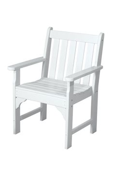 Polywood GNB24WH Vineyard Garden Arm Chair in White
