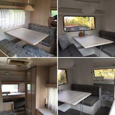 My Beachhouse on wheels Caravan make over van jaren 90 bruin naar fris wit. Nu genieten!