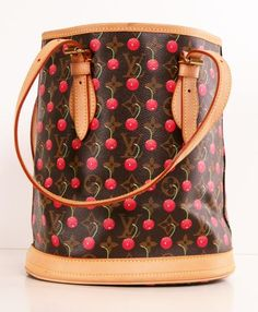 Oh sweet cherries ... LV Bucket Bag. Still a classic!