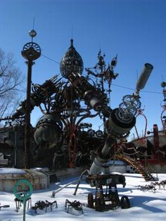 Park Full of Awesome Steampunk Sculptures