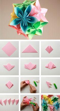 Cómo hacer un colgante con flores de papel