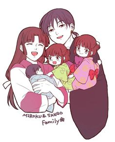 Miroku, Sango, and their kids || Inuyasha