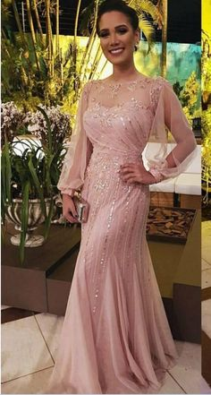 prom dress ,Shiny Sequined Mermaid Dresses Party Evening With Long Sleeves Sheer Bateau Neck Bead Prom Gowns Floor Length New Formal Dress Petite Evening Dresses, Prom Dresses Long With Sleeves, Evening Gowns, Formal Dresses, Prom Gowns, Party Dresses, Bride Dresses, Evening Party, Dress Prom