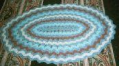 Crochet a Ripple Rug pattern - free (almost too pretty to walk on)