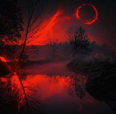 - Photography, Landscape photography, Photography tips Scary Photography, Landscape Photography, Nature Photography, Dark Fantasy Art, Dark Art, Arte Obscura, Red Pictures, Red Moon, Blood Moon