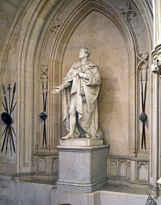 Windsor Castle ~ Statue of king George IV in the grand staircase.