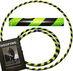 Pro Hula Hoops Travel Weighted Hula Hoop with Hooping DVD  Hula Hoops For Exercise Dance  Fitness 39660g NO Instructions Needed BlackUV Yellow * You can get more details by clicking on the image.