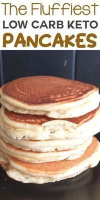 Easy light & fluffy low carb keto pancake recipe for breakfast or as a snack. On… Easy light & fluffy low carb keto pancake recipe for breakfast or as a snack. Only a few ingredients needed. Also a gluten-free and sugar free recipe! Low Carb Desserts, Low Carb Recipes, Cooking Recipes, Diet Recipes, Recipes Dinner, Cookbook Recipes, Recipe Menus, Chicken Recipes, Health Desserts