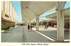 Rich's on Left,  Lenox Square in Atlanta, 1960's