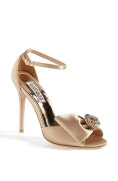 Badgley Mischka 'Tess' Sandal  Stunning gold sandal for a bride | Badgley Mischka