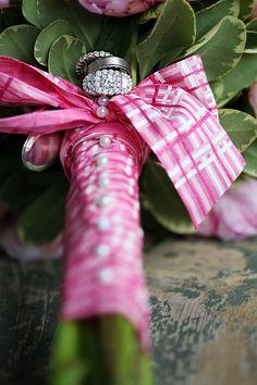 Bouquet Wrap | Photography: Moxie Pix Photos by Dana | On SMP: http://www.stylemepretty.com/canada-weddings/2013/11/13/kleinburg-station-wedding-at-the-doctors-house-by-moxiepix-photos-by-dana